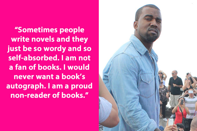 kanye west on books